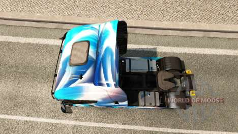 Haut Blau Abstrakt für die LKW-Iveco für Euro Truck Simulator 2