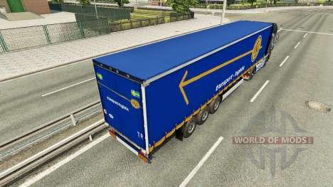 Haut ASG auf dem Anhänger für Euro Truck Simulator 2