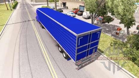 Bleu frigorifique semi-remorque pour American Truck Simulator