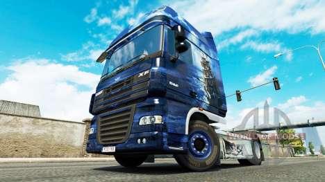 Das Blaue Meer Piraten skin für DAF-LKW für Euro Truck Simulator 2