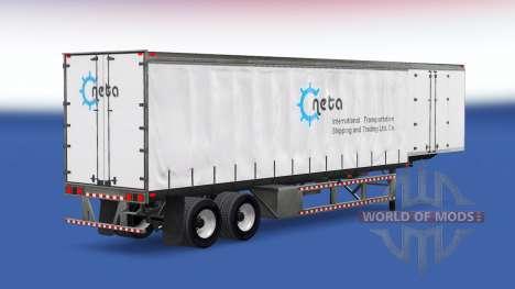 Skins sur un rideau semi-remorque pour American Truck Simulator