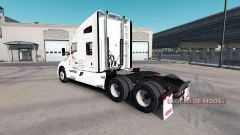 Haut bei Tagesanbruch LKW-und Peterbilt-Kenwort für American Truck Simulator