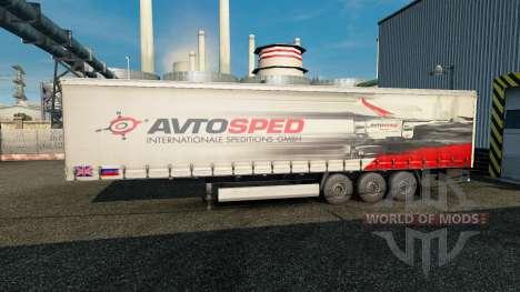 Haut Avtosped auf den trailer für Euro Truck Simulator 2