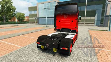La peau Noire & Rouge pour tracteur Scania R700 pour Euro Truck Simulator 2