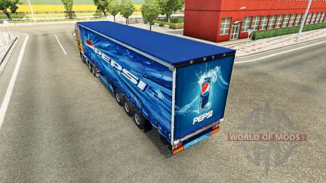 Pepsi-skin für den Anhänger für Euro Truck Simulator 2