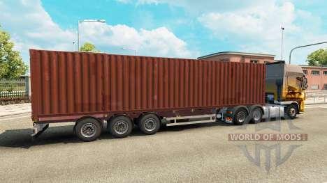Auflieger-container-truck für Euro Truck Simulator 2
