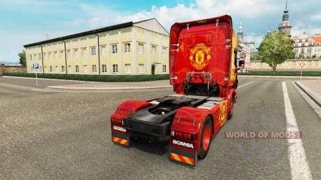La peau de Manchester United pour tracteur Scani pour Euro Truck Simulator 2