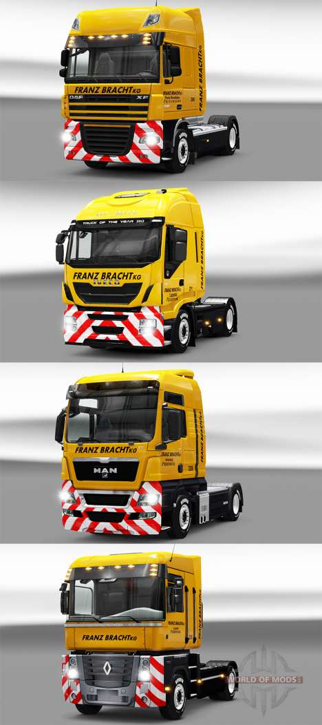 Franz Bracht skin on tractors pour Euro Truck Simulator 2