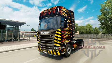 Flame skin für Scania-LKW für Euro Truck Simulator 2