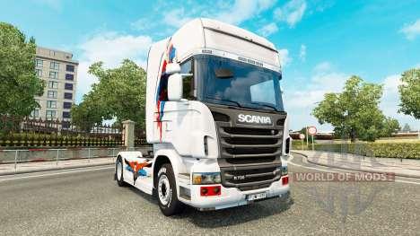 Une peau de Superman pour Scania camion pour Euro Truck Simulator 2