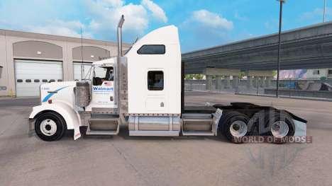 Haut Walmart auf dem truck-Kenworth W900 für American Truck Simulator
