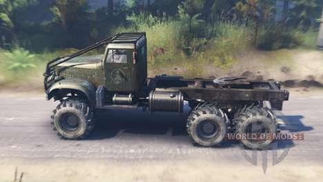 Der KrAZ-214 für Spin Tires