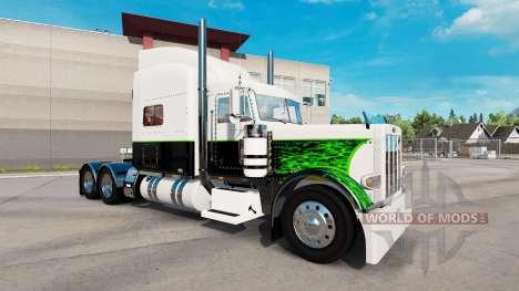 Bouffon vert de la peau pour le camion Peterbilt pour American Truck Simulator