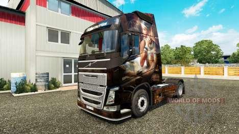 Ägypten-Königin-skin für den Volvo truck für Euro Truck Simulator 2
