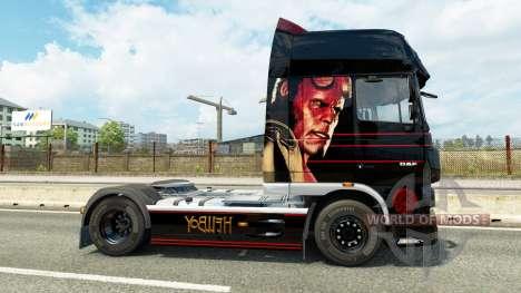 Hellboy skin für DAF-LKW für Euro Truck Simulator 2