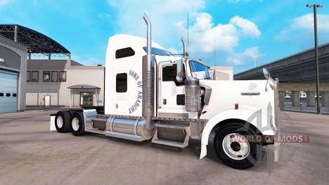 La peau des Fils de l'anarchie sur le camion Ken pour American Truck Simulator