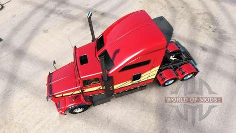 La peau Rayures v2.0 tracteur Kenworth T800 pour American Truck Simulator