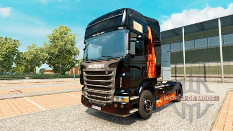 Brûlure de la peau de la femme sur tracteur Scan pour Euro Truck Simulator 2