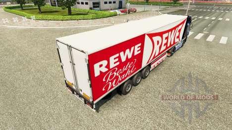 Rewe de la peau pour la remorque pour Euro Truck Simulator 2