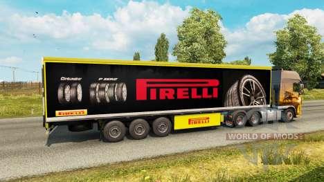 Pirelli peau pour la remorque pour Euro Truck Simulator 2
