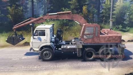 KamAZ 55102 [loader] pour Spin Tires