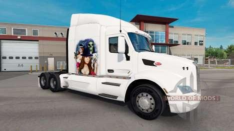 Gangster Girl de la peau pour le camion Peterbil pour American Truck Simulator