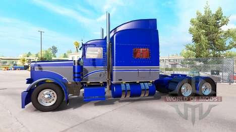 Haut, Blau-Grau, auf der truck-Peterbilt 389 für American Truck Simulator