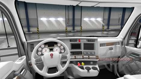 Weiße Kenworth T680 Innenraum für American Truck Simulator