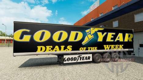 La peau Goodyear sur la remorque pour Euro Truck Simulator 2