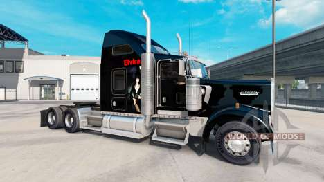 Haut Elvira auf die LKW-Kenworth W900 für American Truck Simulator