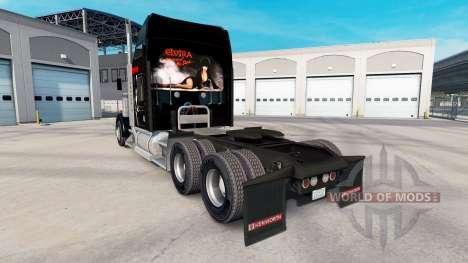 La peau Elvira sur le camion Kenworth W900 pour American Truck Simulator