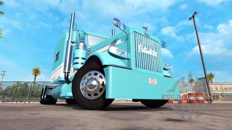 Haut, Blau-Weiß für den truck-Peterbilt 389 für American Truck Simulator