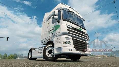La peau sur Dobbs Logistique camion DAF pour Euro Truck Simulator 2