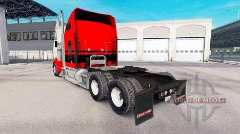 Haut Rot-schwarzen Streifen auf den LKW-Kenworth für American Truck Simulator