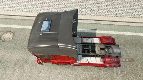 La peau Inter-Trans sur le tracteur Scania pour Euro Truck Simulator 2