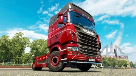 Haut-Inter-Trans auf der Zugmaschine Scania für Euro Truck Simulator 2