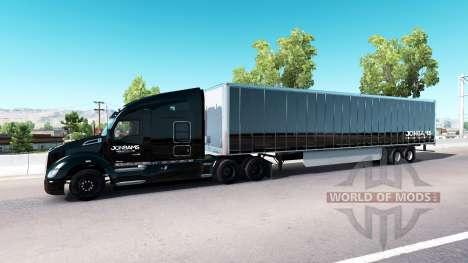La peau JonBams sur un tracteur Kenworth pour American Truck Simulator