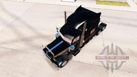 Haut, Silber-schwarz für den truck-Peterbilt 389 für American Truck Simulator