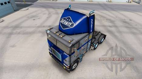 Haut Overnite auf LKW Freightliner FLB für American Truck Simulator