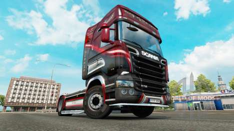 La peau du Roi de la Route sur le tracteur Scani pour Euro Truck Simulator 2