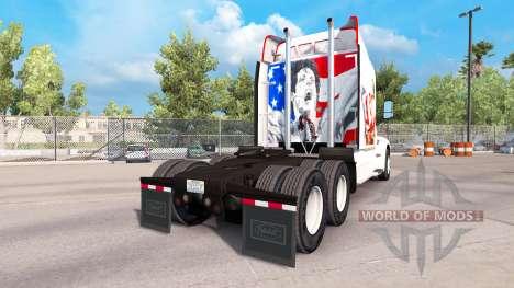 Haut Rocky Balboa auf der Zugmaschine Peterbilt für American Truck Simulator