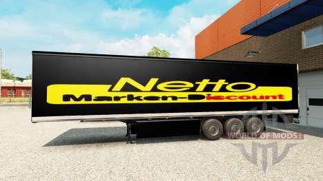 La peau Netto sur la remorque pour Euro Truck Simulator 2