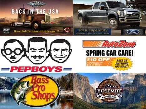 La nouvelle publicité sur les panneaux d'afficha pour American Truck Simulator