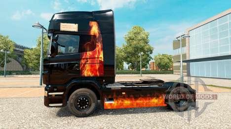 Das Brennen der Haut Frau auf einem Traktor Scan für Euro Truck Simulator 2