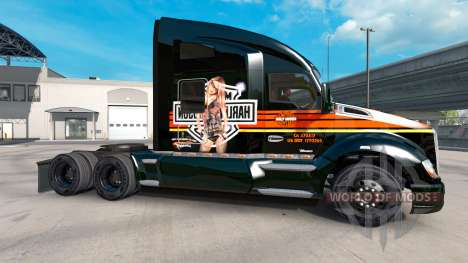 Haut Harley-Davidson auf einem Kenworth-Zugmasch für American Truck Simulator