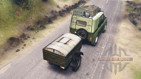 UAZ-31512 für Spin Tires