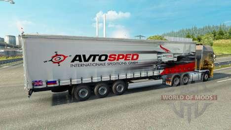 La peau Avtosped sur la remorque pour Euro Truck Simulator 2