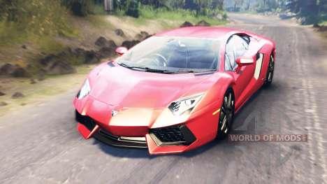 Lamborghini Aventador pour Spin Tires