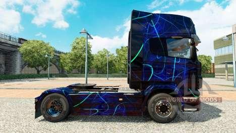 La peau de la Fumée Bleue sur tracteur Scania pour Euro Truck Simulator 2