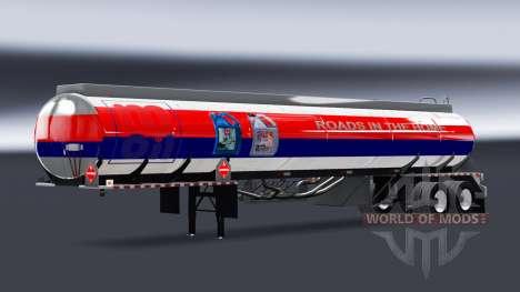 Peaux de carburant pour les semi-remorques citer pour American Truck Simulator